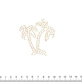 аппликация 2 пальмы золотые, мет.стразы,7х8см