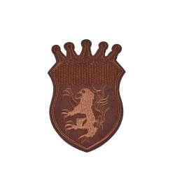 Термоаппликация Эмблема 60х90мм коричневая