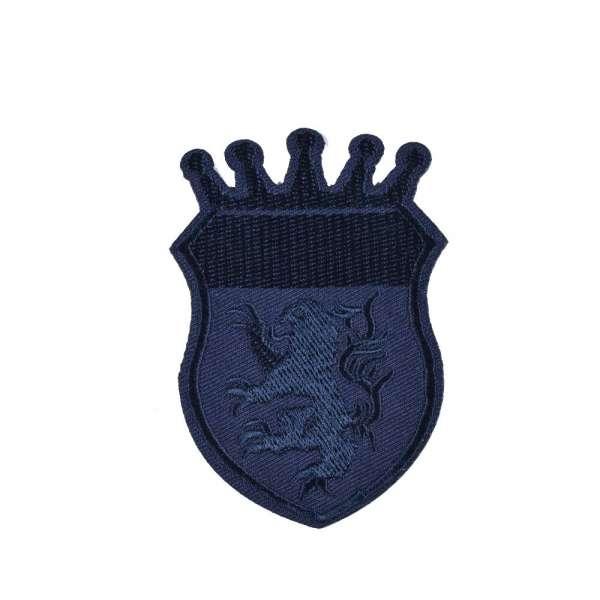 Термоаппликация Эмблема 60х90мм синяя