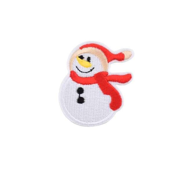 Термоаппликация Снеговик в шляпе красной 40х60мм