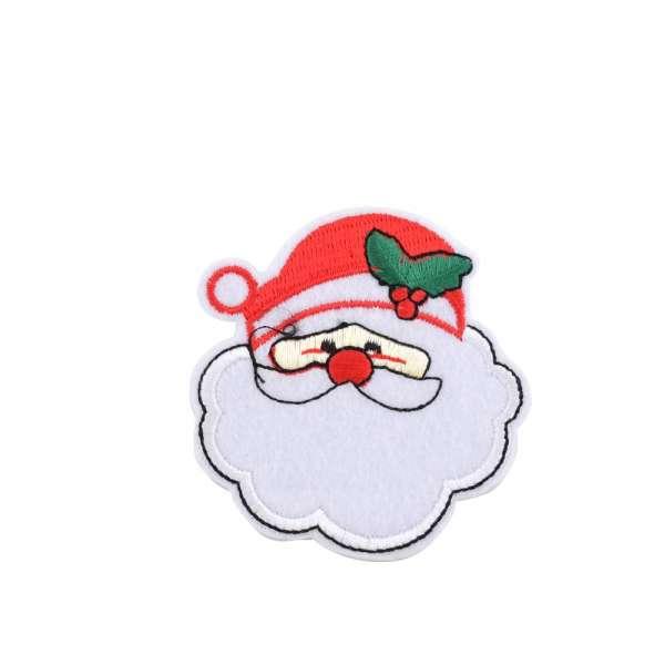 Термоаппликация Дед мороз в шляпе красной 60х70мм