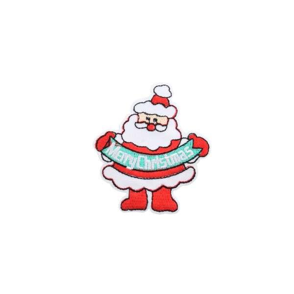 Термоаппликация Дед Мороз MERRY CHRISTMAS 60х70мм
