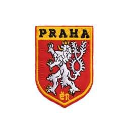 Термоаппликация Герб PRAHA 60х80мм красный