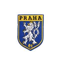 Термоаппликация Герб PRAHA 60х80мм синий