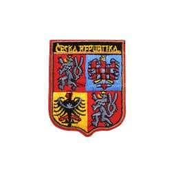 Термоаппликация Герб CESKA REPUBLIKA 60х70мм красный