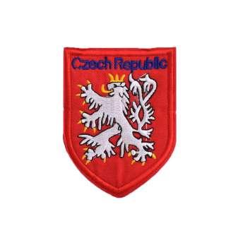 Термоаппликация Герб CZECH REPUBLIC 90х70мм красный