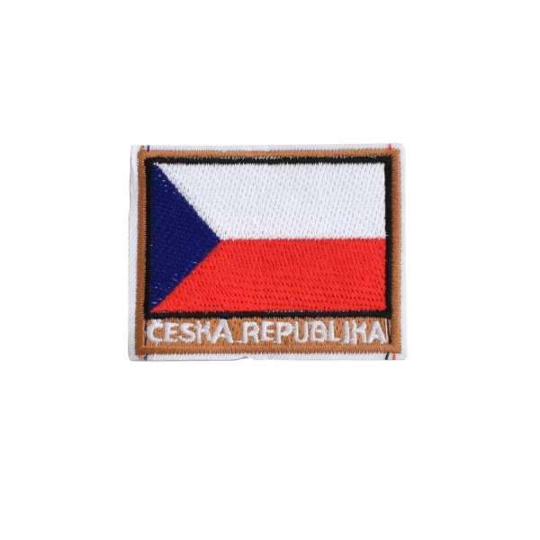 Термоаппликация Герб CESKA REPUBLIKA 40х50мм бело-красно-синий