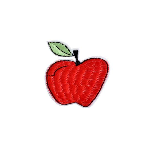Термоаппликация Яблоко 60х60мм красное