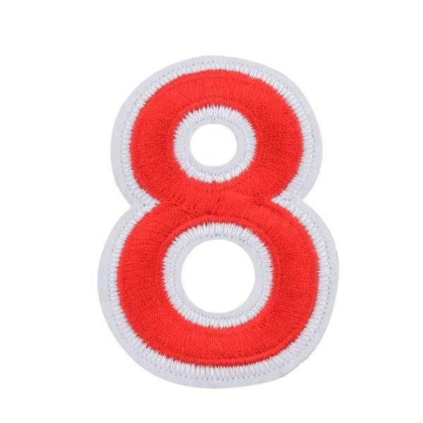 Термоаппликация Цифра 8 красная 60х80мм