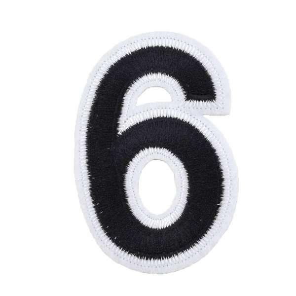 Термоаппликация Цифра 6 черная 60х80мм