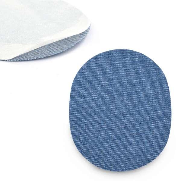 Термоаппликация Латка овальная 13х10мм синяя