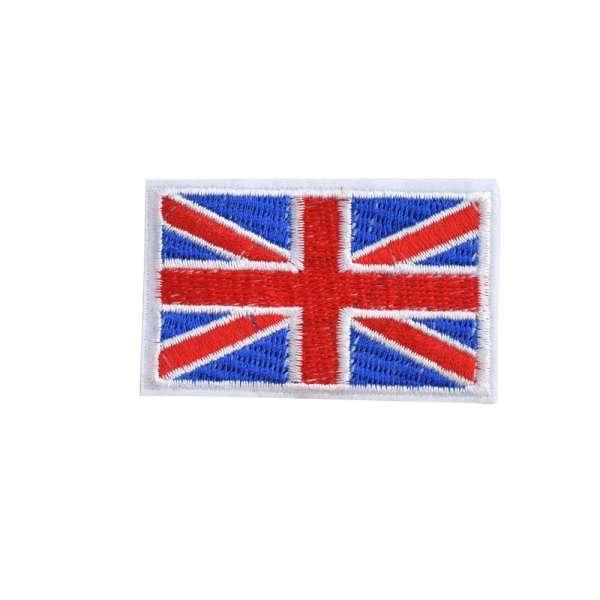 Термоаппликация Флаг Великобритании 70х40мм синий