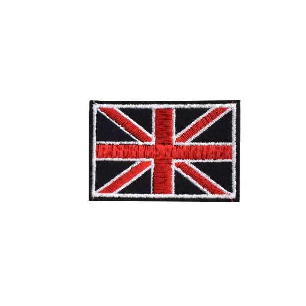 Термоаппликация Флаг Великобритании 70х40мм черный