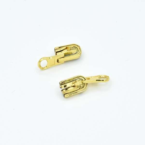 Бегунок на спиральную молнию №5 перекидной никель, золото