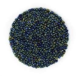 Бисер сине-зеленый ассорти