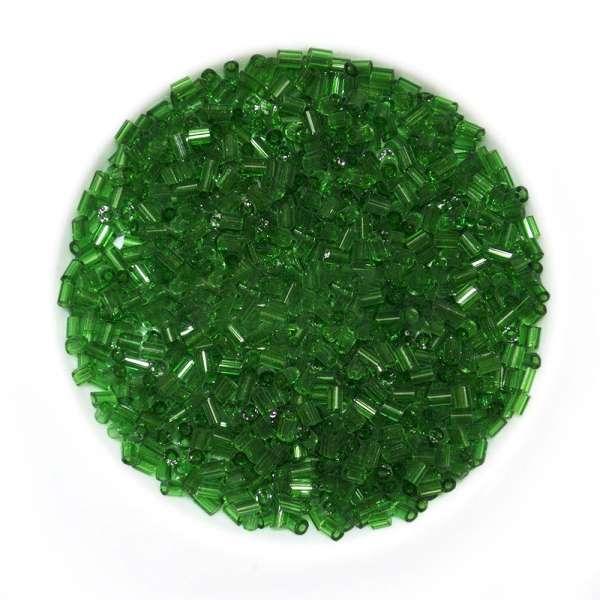Бисер зеленый темный