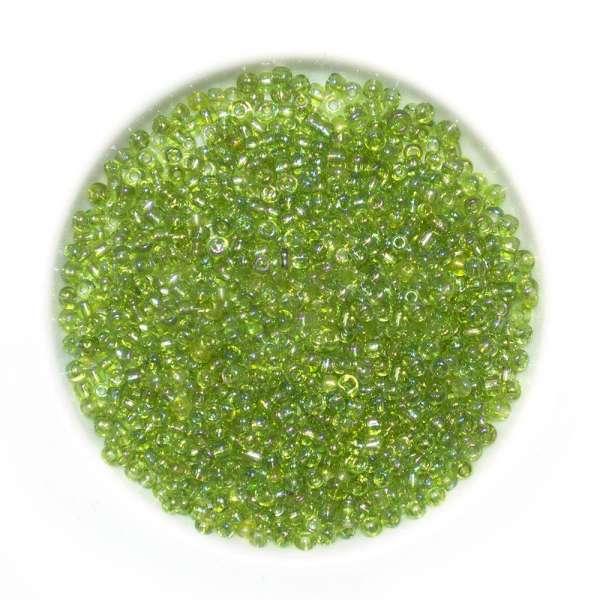 Бисер зелено-желтый ассорти