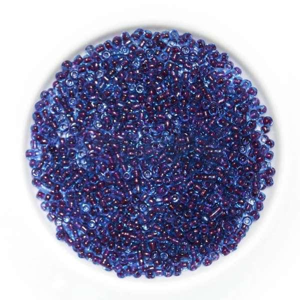 Бисер темно-синий+бордо ассорти