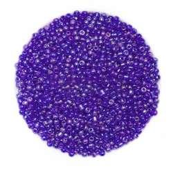 Бисер фиолетово-сиреневый ассорти