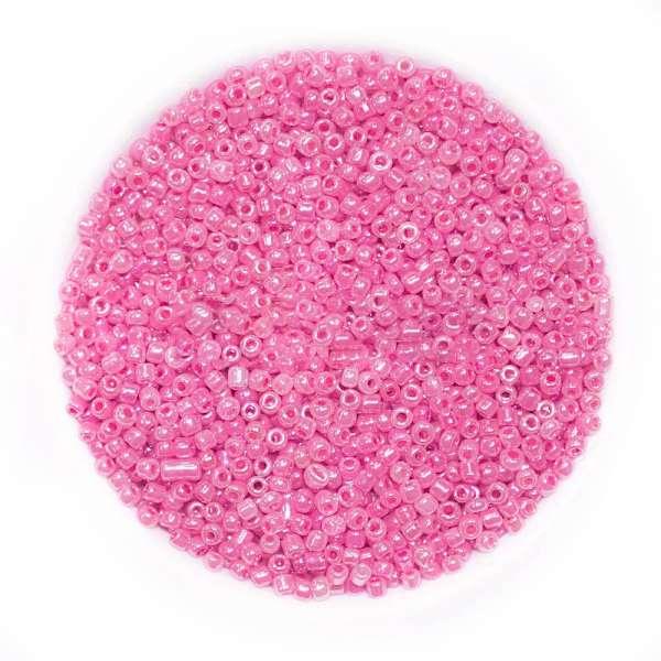 Бисер розовый с перламутром