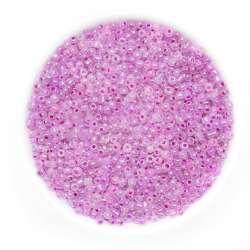 Бисер розово-фиолетовый