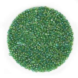 Бисер зеленый хамелеон