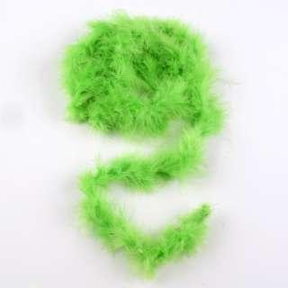 Боа из лебяжьего пуха зеленое, длина 1,8м