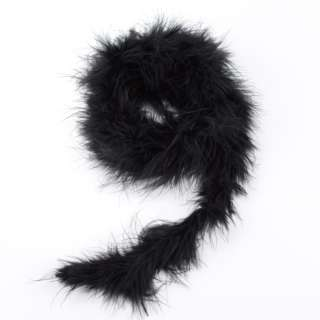 Боа из лебяжьего пуха черное, длина 1,8м