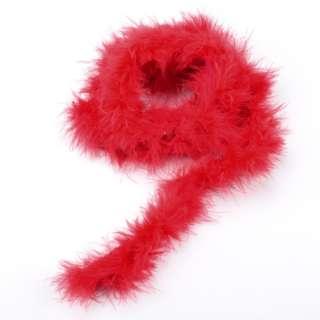 Боа из лебяжьего пуха красное, длина 1,8м