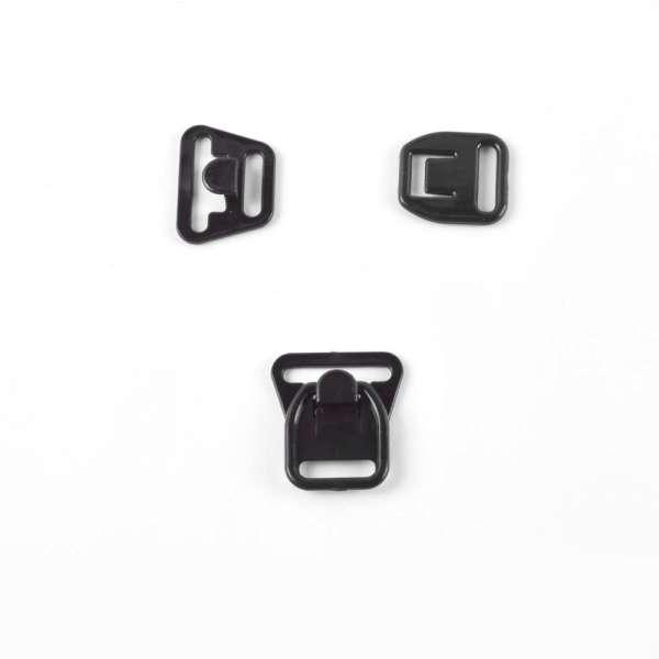 Застежка для кормления пластик 18мм 1/2 черная