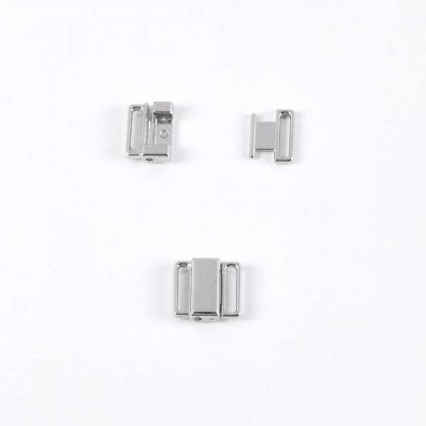 Застежка металл, серебро (10мм) 1шт
