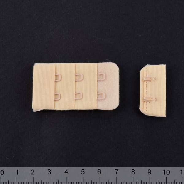 Застежка нейлон на 2 крючка бежевая 2 части