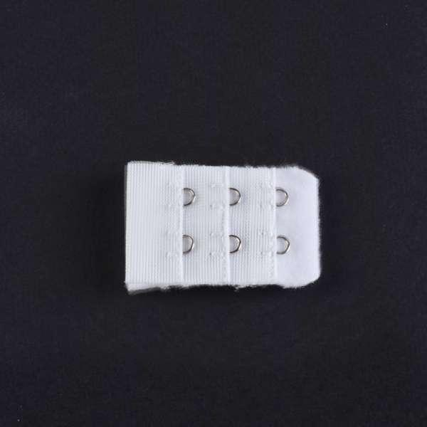 Удлинитель нейлон пришивной на 2 петли белый без крючков 1шт