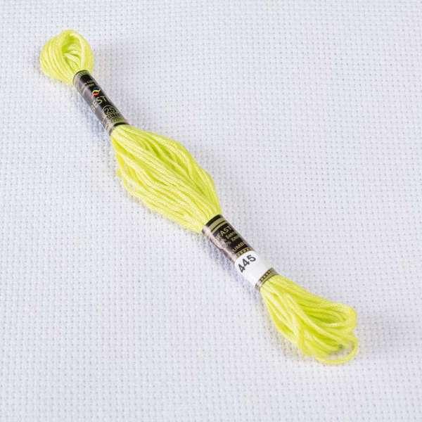 Мулине Bestex 445 8м, Лимонный, светлый