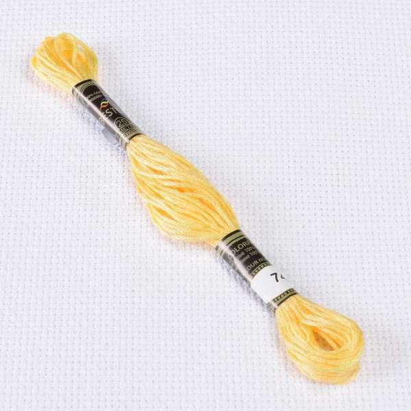 Мулине Bestex 744 8м, Желтый, бледный