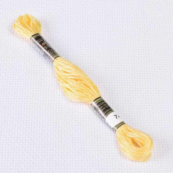 Мулине Bestex 745 8м, Желтый, бледно светлый