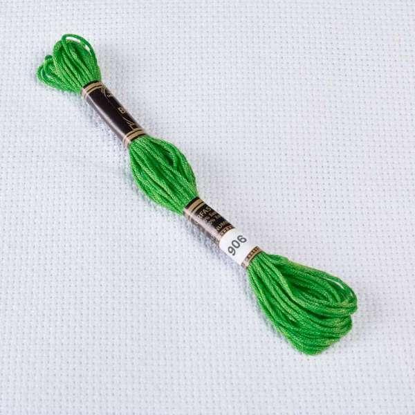 Мулине Bestex 906 8м, Зеленый попугаевый, средний