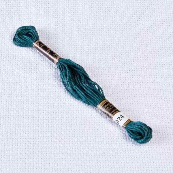 Мулине Bestex 924 8м, Серо-зеленый, очень тёмный