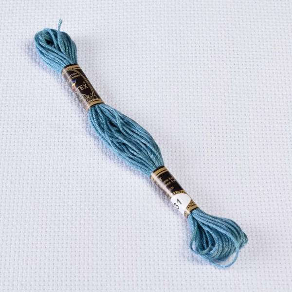 Мулине Bestex 931 8м, Античный синий, средний
