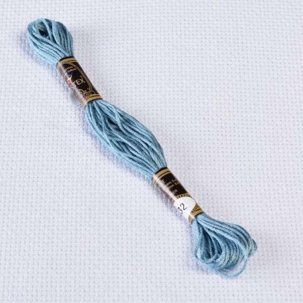 Мулине Bestex 932 8м, Античный синий, светлый