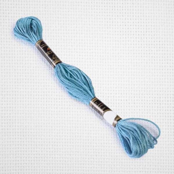 Мулине Bestex 3766 8м, Переливчатый синий, светлый