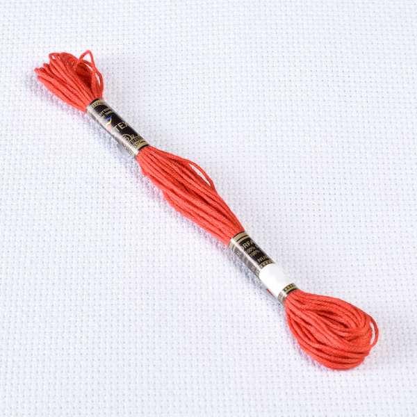 Мулине Bestex 3801 8м, Рождественский красный, светлый