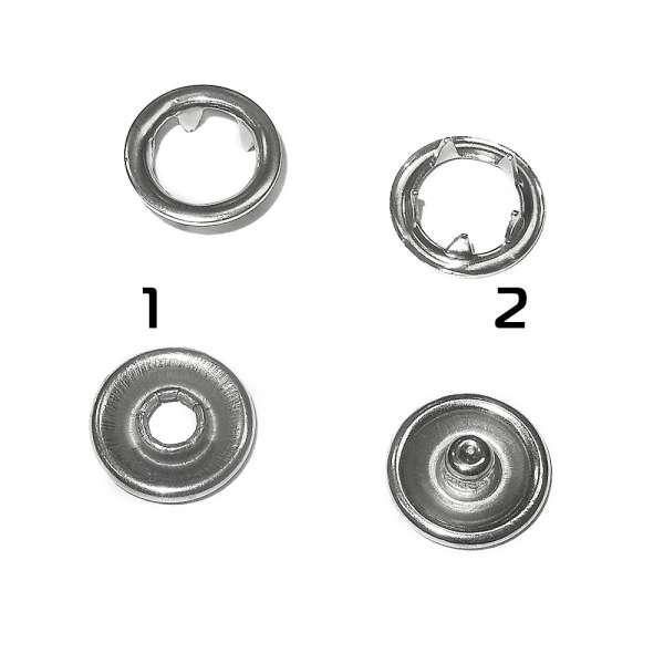 Кнопка металлическая перламутровая