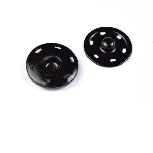 Кнопка металлическая 30 мм черная