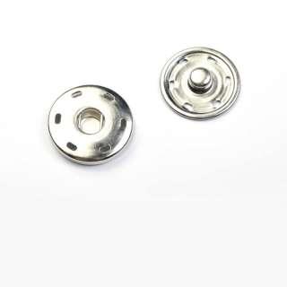 Кнопка металлическая 30мм хром