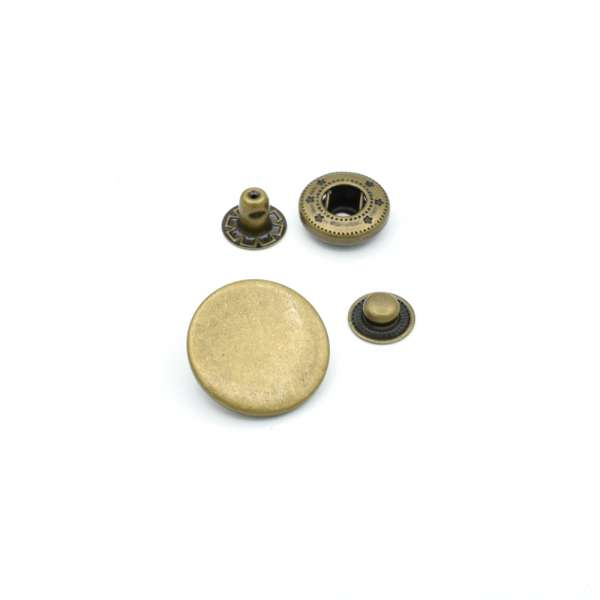 Кнопка металлическая 20мм антик