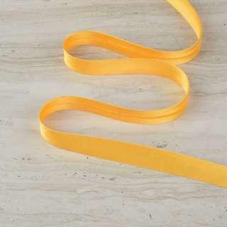 "Косая бейка 16мм (5/8"") на метраж желтая"