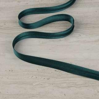 """Косая бейка 16мм (5/8"""") на метраж зеленая темная"""