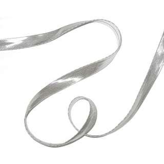 Косая бейка №61 серебристая
