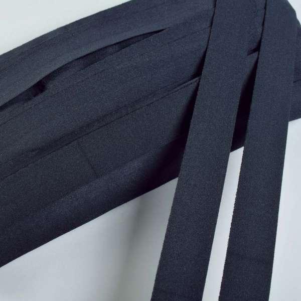 Косая бейка стрейч 20 мм синяя темная